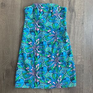 ✨LILLY PULITZER STRAPLESS SUN SUMMER DRESS SIZE 00